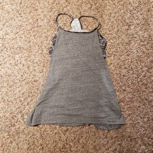 Muscle tank with sports bra attached